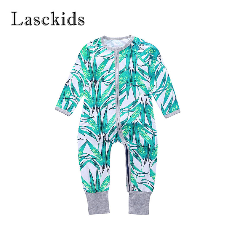 Lasckids Baby Boy Jumpsuit Long Sleeve Zipper 2018 Autumn Baby Clothes Infant Girl Toddler Boy Romper Cotton Print Bebe Rompers