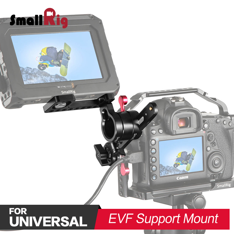 SmallRig Dual Camera Adjustable EVF Mount Monitor Support with ARRI Rosette Quick Release Rig 1938