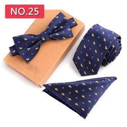 Жаккардовая свадьба Тонкий галстук комплект мужские квадратный платок мужской вязать галстуки и карман Узкие галстуки и платок с бантом