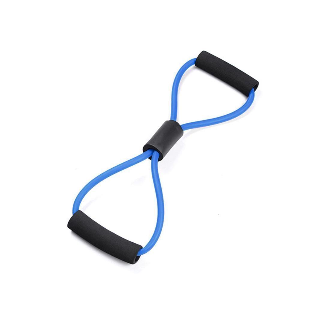 Band Yoga Resistance Elastic Tube Workout Exercise Fitness B