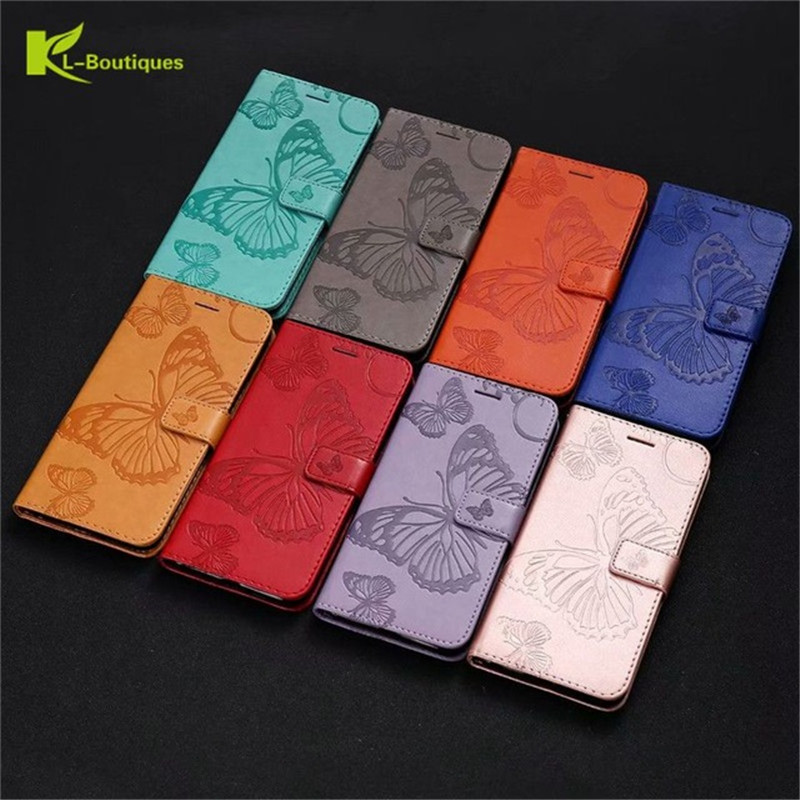 J4 Core Case on for Samsung Galaxy J4 Core Case Flip Leather 3D Butterfly Phone Case for Samsung J4 Core J410F Case Cover Coque