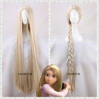 120cm/47 Women Princess Rapunzel wig Long blonde straight hair wig Halloween Role Play Tangled hair fancy Costumes