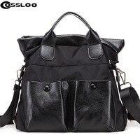 Women Handbag Oxford Nylon And Leather Large Capacity Shoulder Crossbody Bags Tote Bolsas Feminina Borse Female