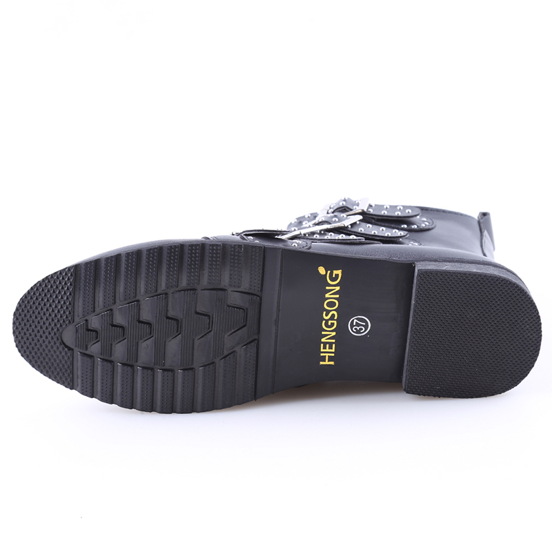 Cheville Courtes Femmes Moteur Rue Gothique Mujer serpentine Zapatos Chaussures Mode Transport Punk Black Style Bottes Rond New Bout wIznqvgS