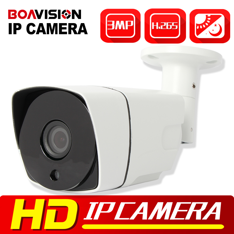 BOAVISION Security 3MP IP Camera H.265 Onvif Waterproof Night Vision P2P Cloud CCTV Surveillance Camera Outdoor POE Optional escam q630m ip camera 720p night vision p2p cloud surveillance camera waterproof 1 0megapixel onvif 2 2 h 264 6 0mm le