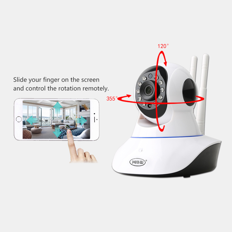 N_eye IP Camera wifi 1080P Indoor Home Security Wireless Camera With Night Vision Professional Rotary Camera For Home in Surveillance Cameras from Security Protection