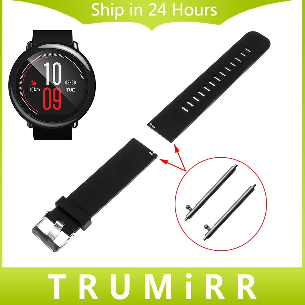 20mm 22mm Libération Rapide En Caoutchouc Bracelet pour Amazfit Huami Xiaomi Bip PEU RYTHME Lite Bande de Montre Bracelet En Silicone Poignet Ceinture Bracelet