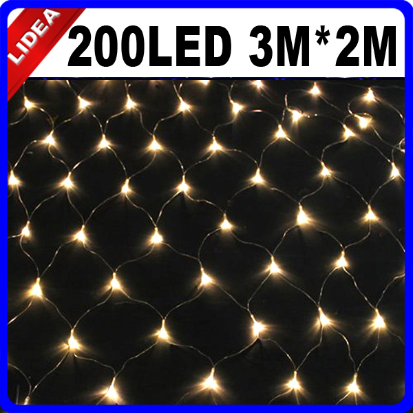 3M*2M 200 LED Garden Wedding Party Garden Holiday LED Christmas Decoration Outdoor String Fairy Net Mesh Garland Light CN C-36