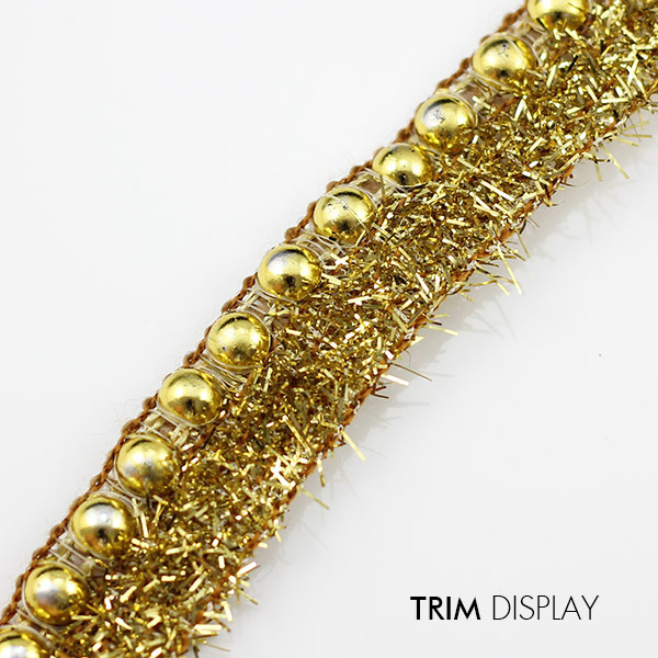 Beaded Glitter Gold FabricVenise Lace Ribbon Sew on Applique Scrapbooking Trim Decorated Embellishment Sewing Supplies 20yd/T829