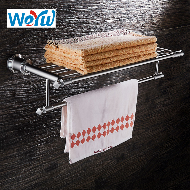 WEYUU Free Shipping Bathroom Accessories Towel Rack 304Stainless Steel Towel Holder Bathroom Shelf Wire drawing 0 8mm 304 stainless steel wire bright surface diy materialhard steel wire cold rolled