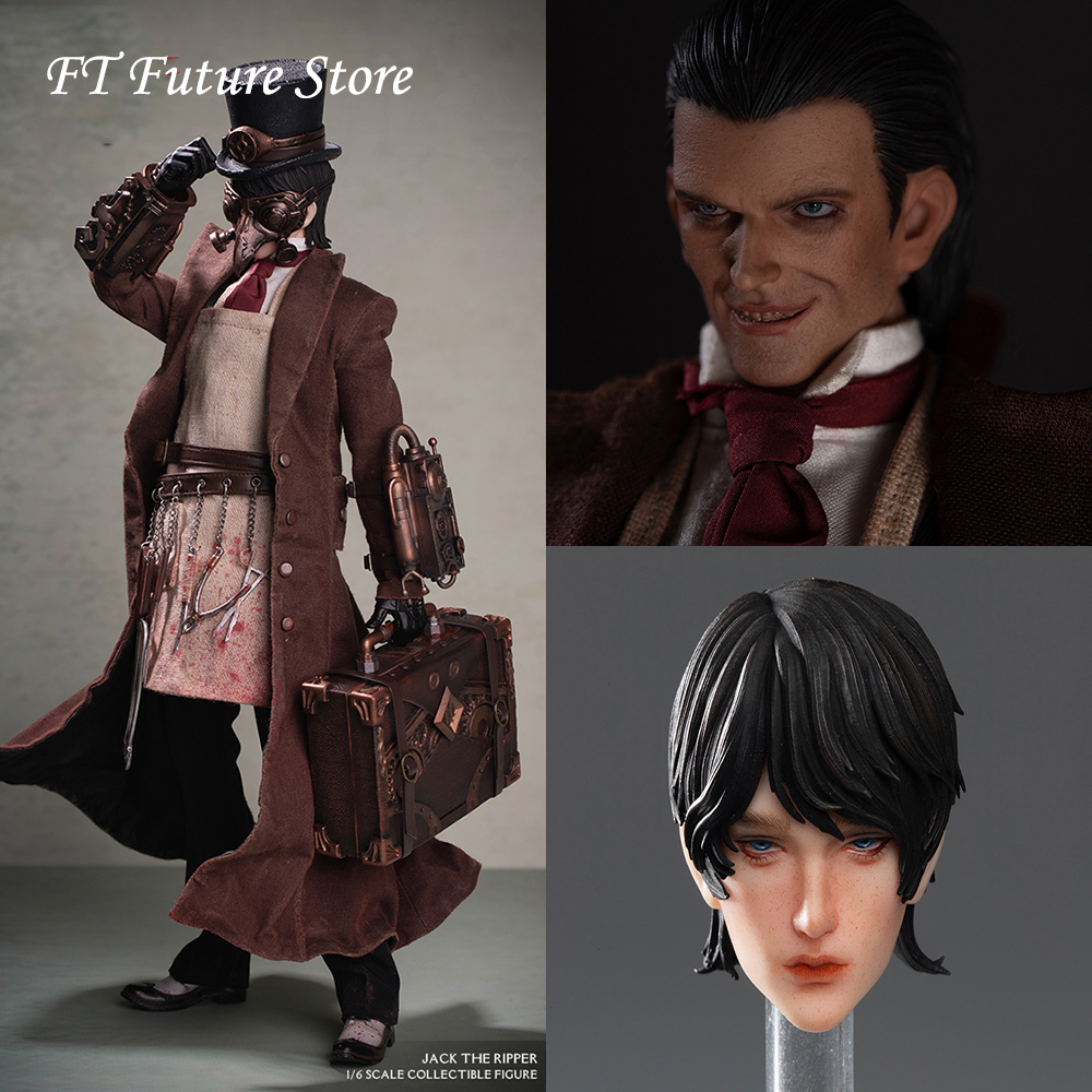 For Collection YZBR 00002 1 6 Jack the Ripper Whole Set Action Figure Model with Double