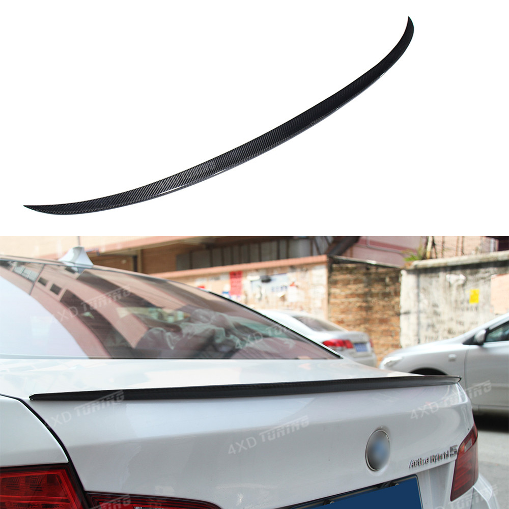 For BMW F10 Carbon Spoiler M5 Style 5 Series F10 & F10 M5 Carbon Fiber Rear Spoiler Trunk Wing 520i 528i 535i 530i 525i 2010 -UP for bmw 5 series f10 carbon fiber performance style rear trunk spoiler wing 2010 2015