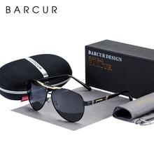 BARCUR 남자 선글라스 편광 된 UV400 보호 여행 운전 남성 안경 Oculos 남성 액세서리 남성용
