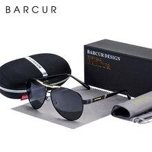 Lunettes de soleil homme BARCUR polarisées UV400 Protection voyage conduite lunettes pour homme
