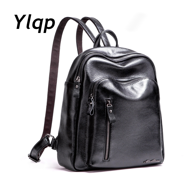 Aliwilliam New Fashion Quality Leather Backpack Women Bags Preppy Style Backpack Girls School Bags Zipper Shoulder