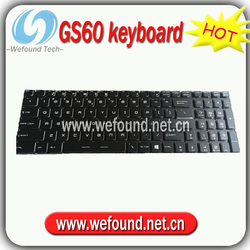 New! Backlit Keyboard for MSI GS60 GT72 GT73VR GS63VR GL62 GE62 WS60 GS70, US layout gl62 6qc 097ru