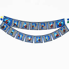 1pc/set Spiderman  Pennant Bunting Birthday Party Flag Banners Kids Cartoon Supplies Decoration flag