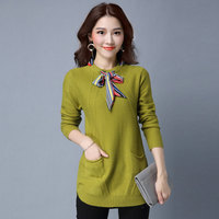Sweater Women Pullovers 2018 Winter Long Sleeve Wool Female Pullovers Knitted Cashmere Women Sweaters and Pullovers 169 88E