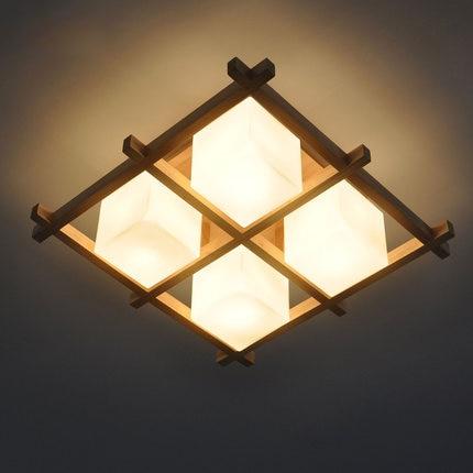 Müasir minimalist Yapon yataq otağı tavan işıqlı armatur ev - Daxili işıqlandırma - Fotoqrafiya 4