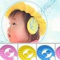 Atacado Ajustável Bebê Crianças Shampoo Banho de Banho Shower Cap Hat Wash Escudo Cabelo com a orelha do transporte presente de natal