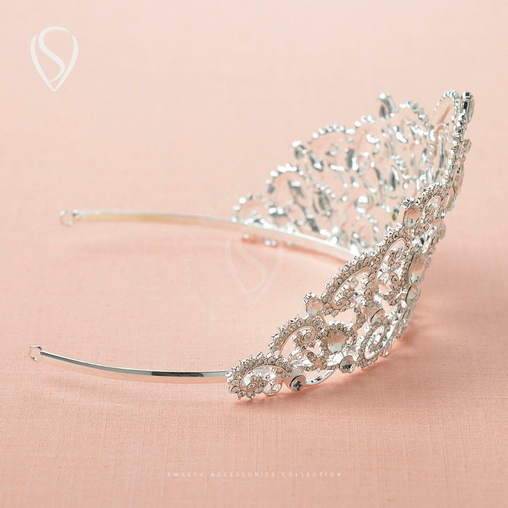 CLEARANCE SALE Royal Crystal Crown Queen Tiara Bridal Headpieces ...