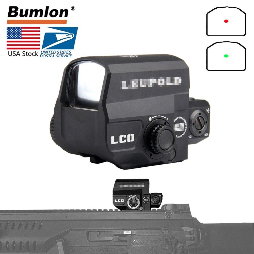 EUA LP LCO Tactical Red Dot Sight Rifle Scope Caça Mira Reflex Com 20mm Rail Mount Vista Holográfica HT5-0038