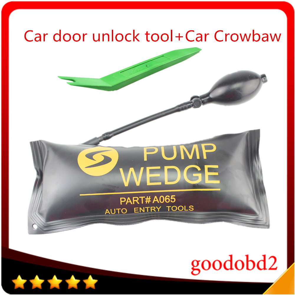 Diagnostic car vehicle Tool KLOM PUMP WEDGE LOCKSMITH TOOLS Auto Air Wedge Lock Pick Open Car Door Lock set +Car Plastic Crowbar  цены