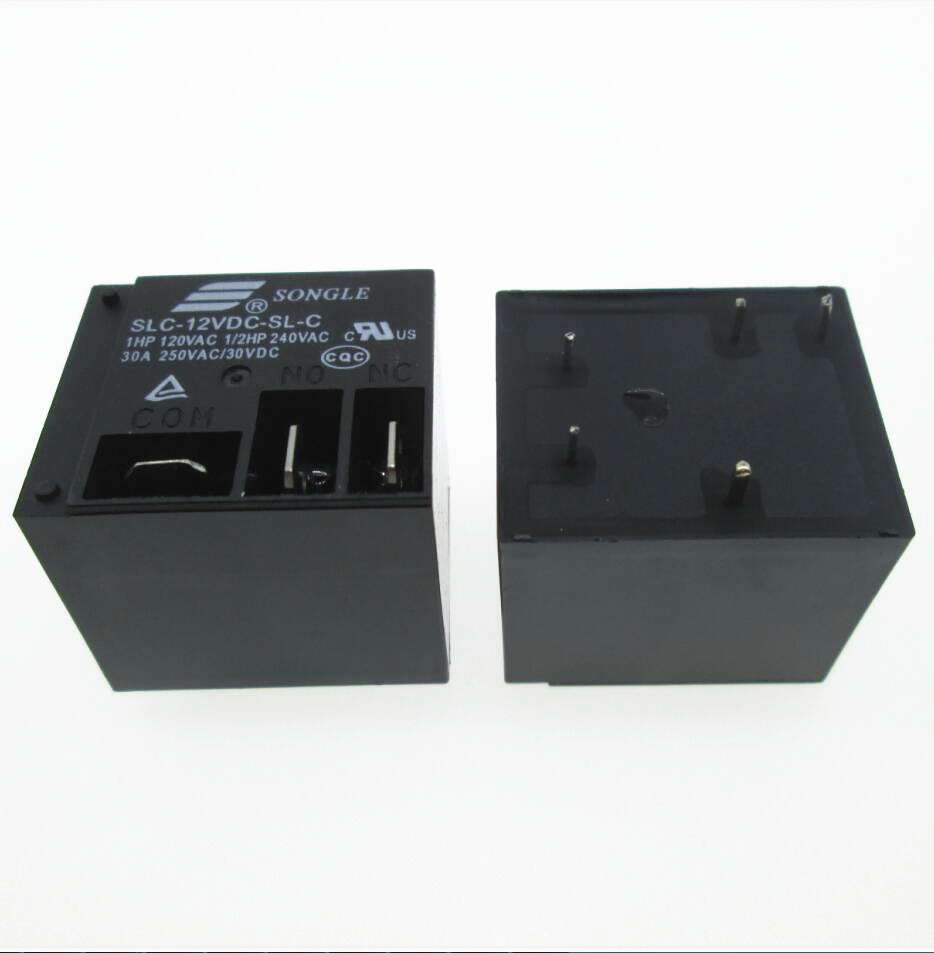 HOT NEW 12V relay SLC-12VDC-SL-C SLC-12VDC-SL SLC-12VDC SLC 12VDC 12V 30A 250VAC SONGLE DIP5