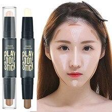 Maquiagem iluminador highlighter corretivo rosto contorno bronzers marcadores caneta cosméticos 3d maquiagem corrector contorno vara