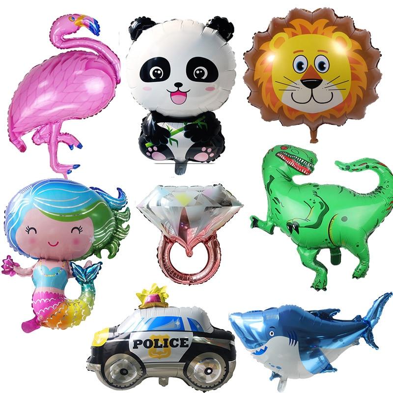 დაბადების დღის ბუშტები Flamingo / Pineapple / Mermaid Foil Ballons დაბადების დღის დეკორაცია ბავშვთა მოზრდილთა წვეულება ჰელოუინი Helium Air Globos