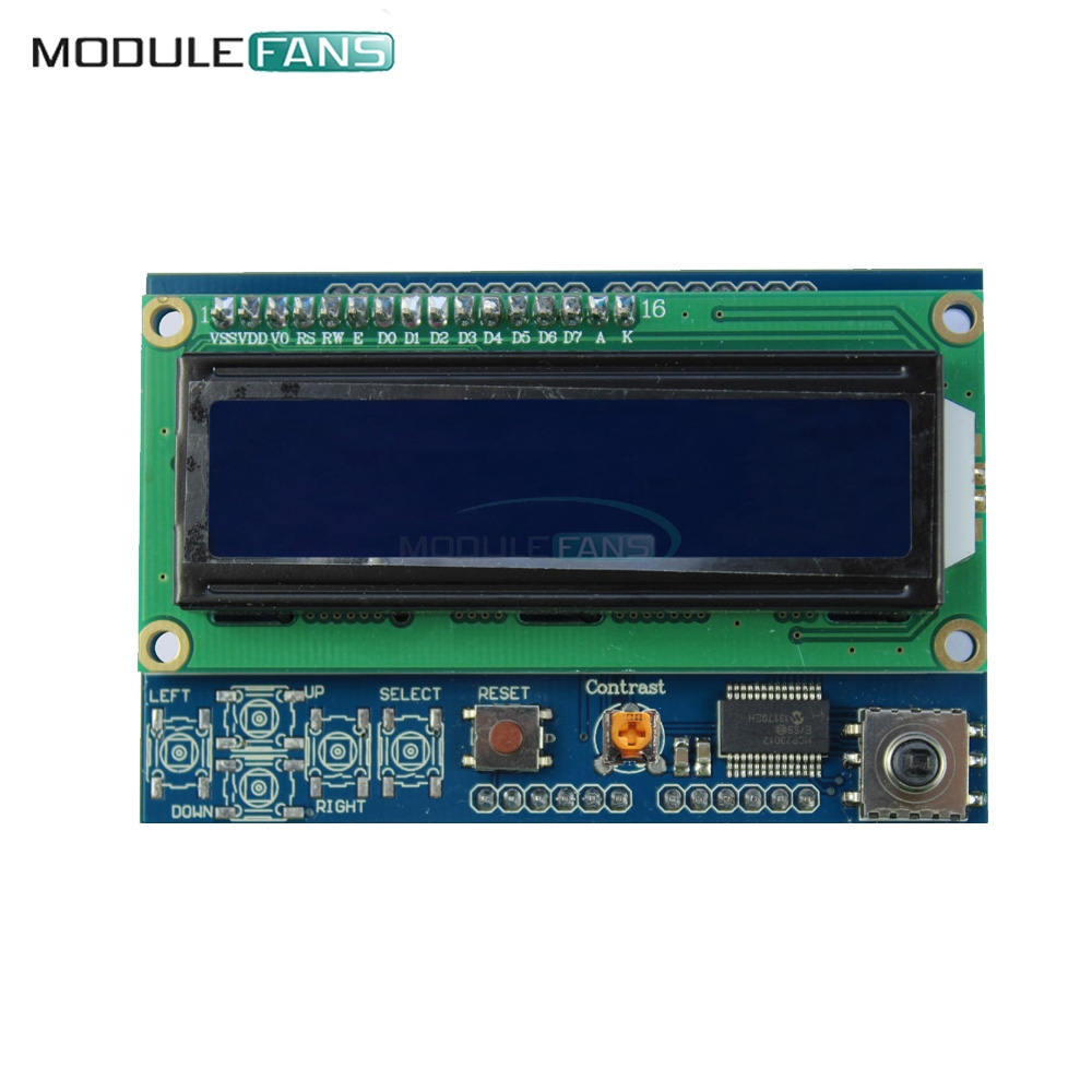 Back To Search Resultselectronic Components & Supplies Brightness Adjustable 1602 Lcd Shiled Iic I2c Mcp23017 5 Keypad For Arduino Uno R3 Mega Five-way Button Share The I2c Bus Lustrous Surface Active Components