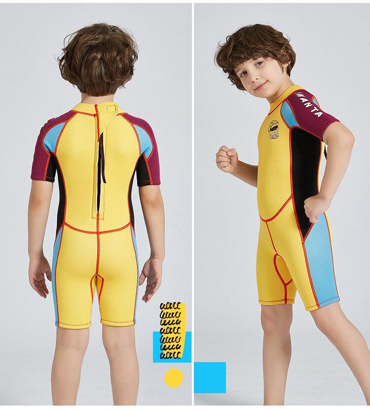 Néoprène enfants maillot de bain garçons combinaisons une pièce combinaisons de plongée gardes éruptions cutanées surf maillots de bain pour enfants 2541