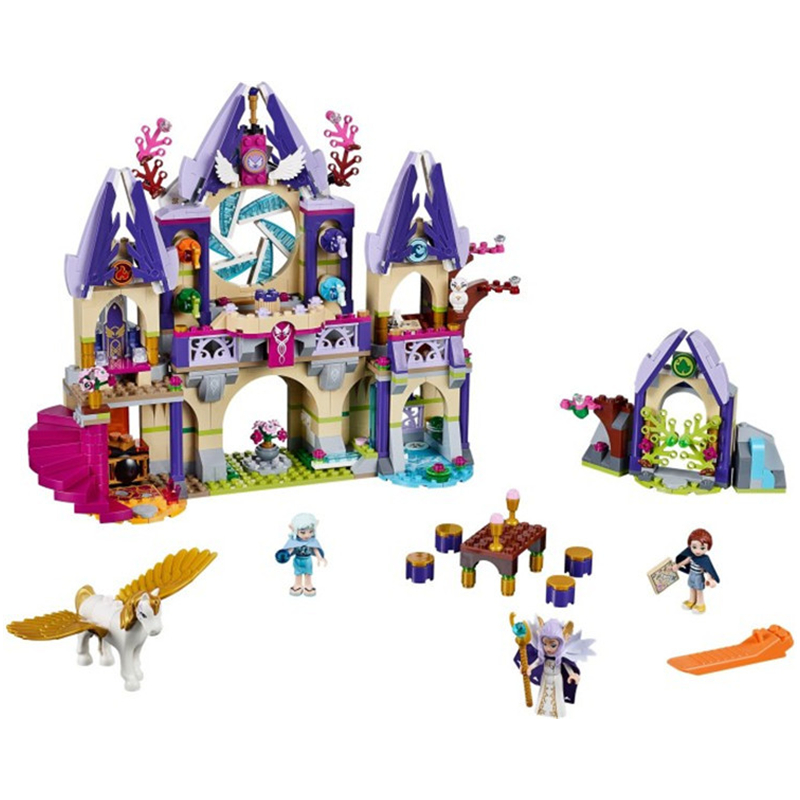 2017 10415 Elves Azari/Aira/Naida/Emily Jones Sky Castle Fortress Building Blocks Toy Gift For Girls Compatible Lepin Bricks 2017 10415 elves azari aira naida emily jones sky castle fortress building blocks toy gift for girls compatible lepin bricks