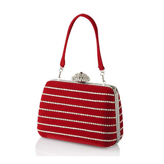 2015 Hot Sale Ladies Rhinestone Clutch Women Evening Bag Stripe Designer Chain Bags Bridal Wedding Purses bolsas mujer XA1390C