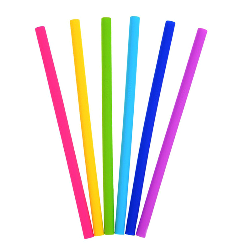 2Pcs Reusable Silicone Straws Drinking Straw Soft Bent Straight Straw for Tumbler Cocktail Juice Party Bar Accessories Barware (1)