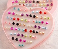 Free Shipping Big Sale Cute Women Small Pearl Stud Earrings Mix 36 Pairs Box Wholesale Fashion