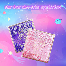 star river nine color eyeshadow Starry Shining Eyeshadow Sale Pearlescent Matte Flash Powder Easy to Apply 9 Color