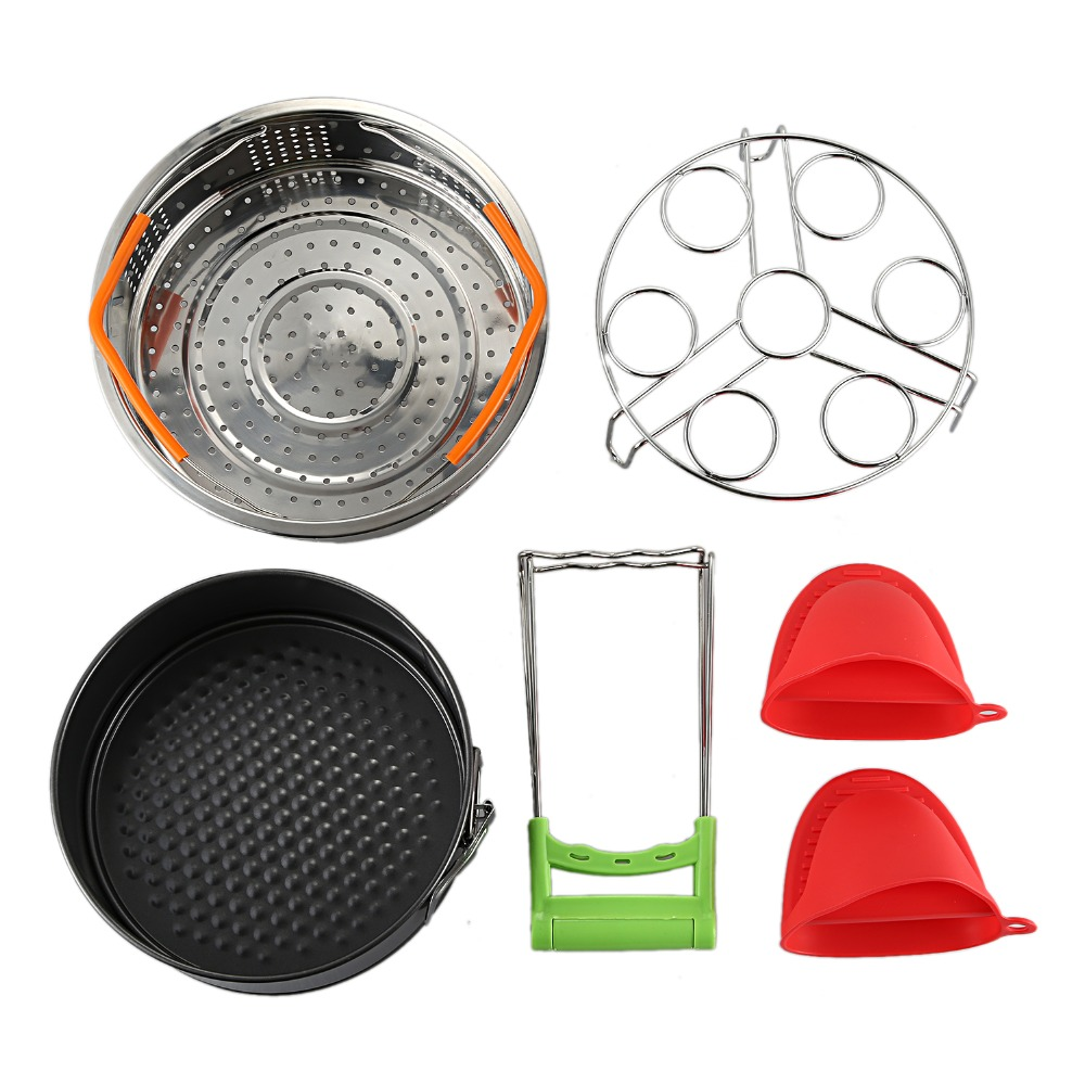 Instant Pot Accessories Set With Steamer Basket Egg Steamer Rack Non-stick Springform Pan Steaming Stand 1 Pair Silico Glove