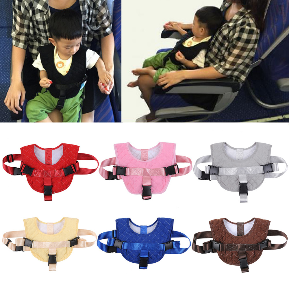 Baby Airplane Flight Travel Harness Strap for 10-24 Month Portable Kids Chair Seat Belt Sh