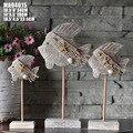 Средиземноморская морская рыба серии три набора антикварные украшения бар интерьер ручной работы резные ремесла украшения дома аксессуар...