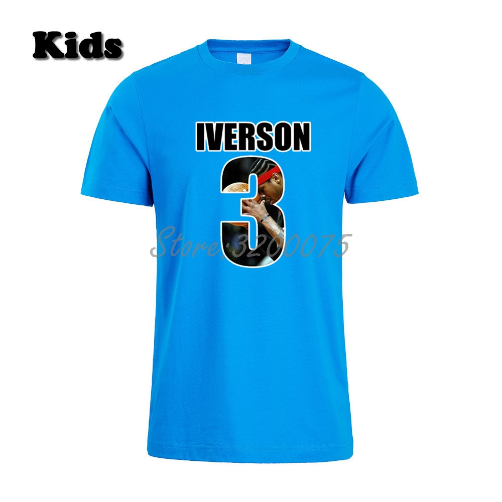 new products 7cae4 f5ace Kids Allen Iverson 3 The Answer T-shirt Clothes T Shirt Youth boys girl  tshirt for fans gift o-neck tee W19031101