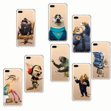 Lovely cartoon zootopia soft silicone phone Cover Cases for iPhone  SE 5S 5 X 7 8 6 6s 7plus 8plus 6plus plus