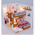 """ My Little Friends"" Wood Doll House Assembling Toys for Children's Birthday Gift,Handmade Dollhouse Miniature Toy"