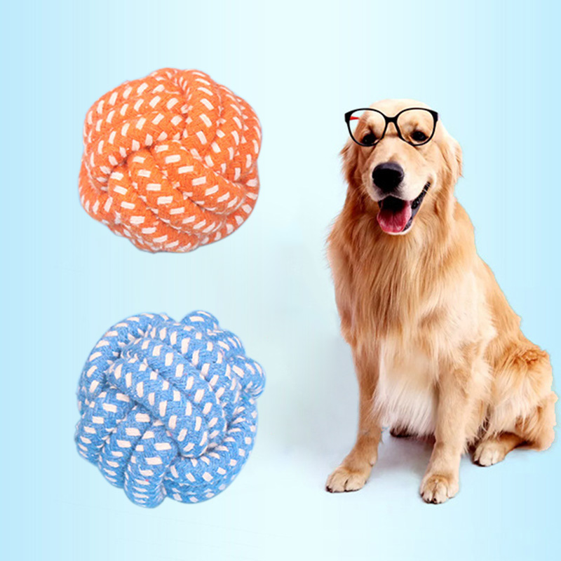 1PCS Dumbbell Rope Tennis Pet Chew Toy Puppy Dog Ball Clean Teeth Training Tool