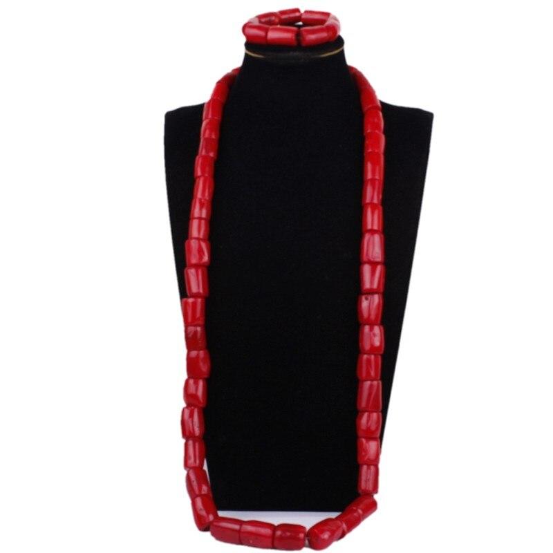Dudo bijoux véritable corail perles Bracelet collier ensemble 2 photos Dubai Fine bijoux ensembles rouge bijoux ensemble africain marié nigérian