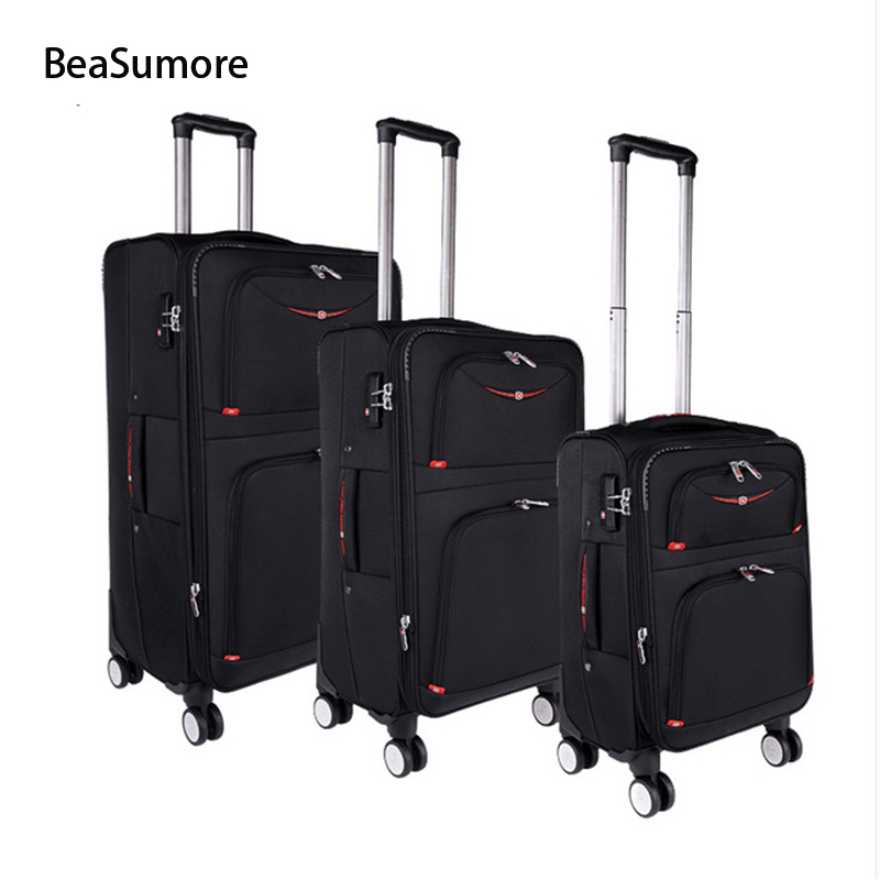 BeaSumore 20 24 28 inch Brand Rolling Luggage Sets Spinner 28 inch High capacity Password Trolley