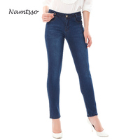 Mujeres Stretch Denim Jeans para mujeres de Mediana cintura Estereoscópica de levantamiento de glúteos vaqueros Pitillo Pantalones Más El Tamaño 30 32 34 36 38 40