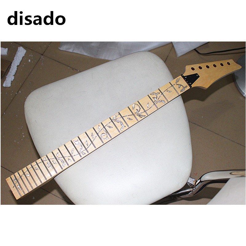 disado 24 Frets maple Electric Guitar Neck maple fingerboard inlay tree of lifes Guitar accessories parts disado 21 22 24 frets maple electric guitar neck rosewood fretboard inlay blue tree of lifes guitar parts accessories