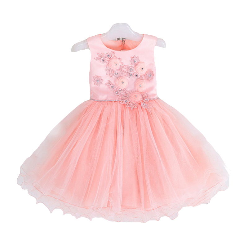 Christmas Girl Party Dress Princess Kids Children Dresses for Girls Clothes Ball Gown embroidery Sleeveless New Year Custumes