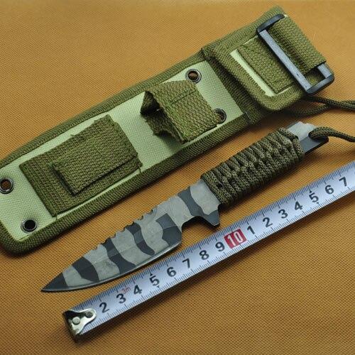 Дайвинг Ножи River Ножи Нержавеющаясталь 420c 58HRC кемпинг Ножи EDC внутренней фиксированным лезвием Ножи с оболочкой нейлона ...